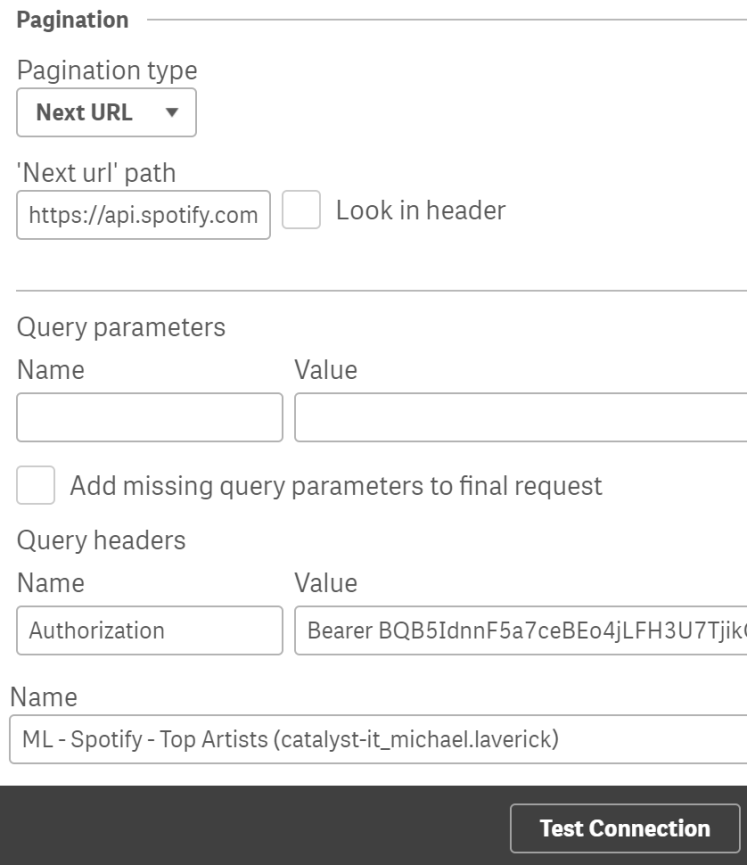 Spotify – REST – Qlik – Adventures in Qlik