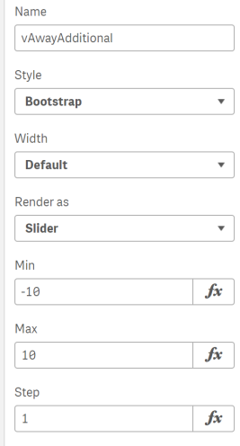 Variable Settings